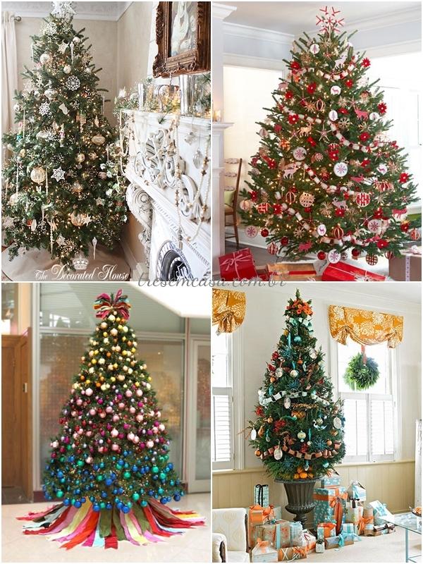 ideias decorar árvore natal diferente