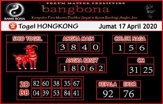 Prediksi HK Kamis 16 April 2020 - Bang Bona HK