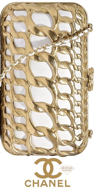 Brilliant Luxury♦Chanel Evening Bag #gold