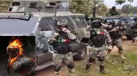 """Sicarios de El CJNG capturan a """"El Ghost Rider"""" líder de Cárteles Unidos en Tepacaltepec, Michoacan  y como burla a su apodo le queman la cara, suplica ser asesinado"""