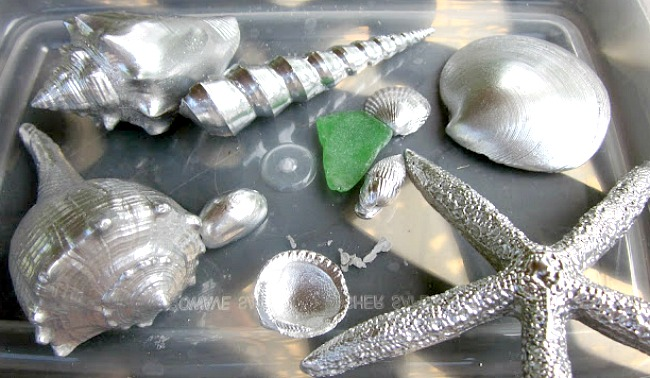 Crafting with Shiny Sea Shells