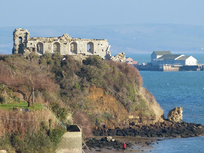 Sandsfoot Castle from the Rodwell trail