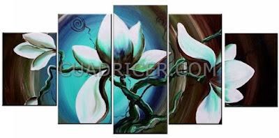 http://www.cuadricer.com/cuadros-pintados-a-mano-por-temas/cuadros-flores/cuadros-flores-magnolia-2194-rama-arbol-azul-moderno-vivo-salones-dormitorios-decoracion.html