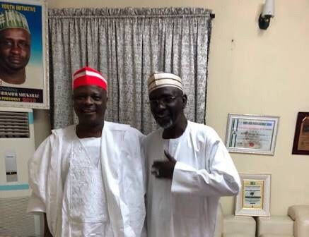 Kwankwaso Visits Shekarau At His Home In Abuja (Photo)
