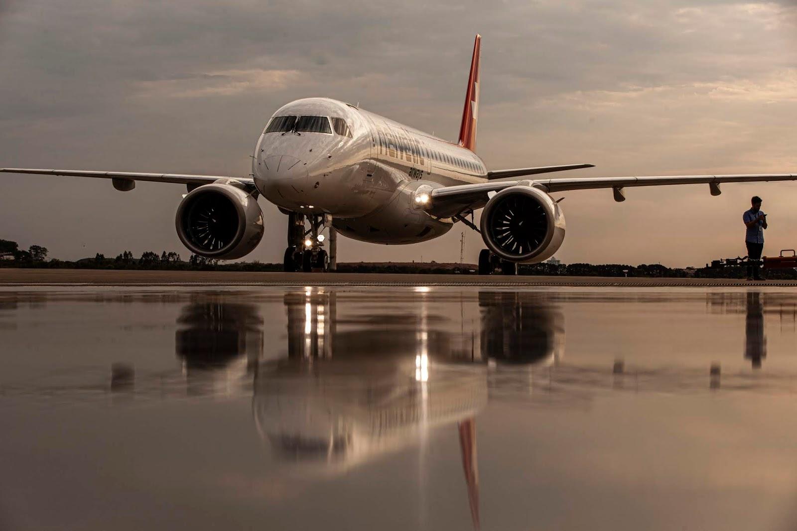 Embraer entregou o primeiro E190-E2 da Helvetic Airways | É MAIS QUE VOAR