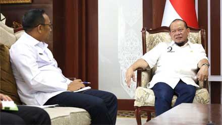 LaNyalla beri arahan Sekjen DPD RI Rahman Hadi