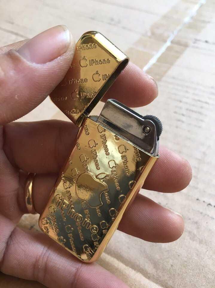 Bật lửa hộp quẹt Chanel iPhone vàng giá sỉ và lẻ rẻ nhất