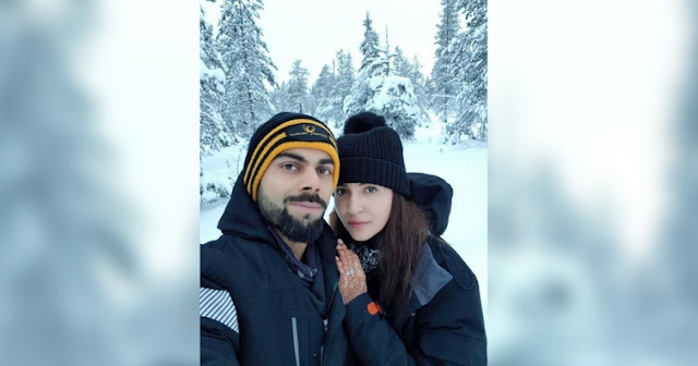 Virat and #Anushka - shared their first honeymoon photo