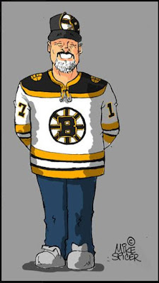 Boston Bruins  Boston Hockey Bruins sports fan caricatures
