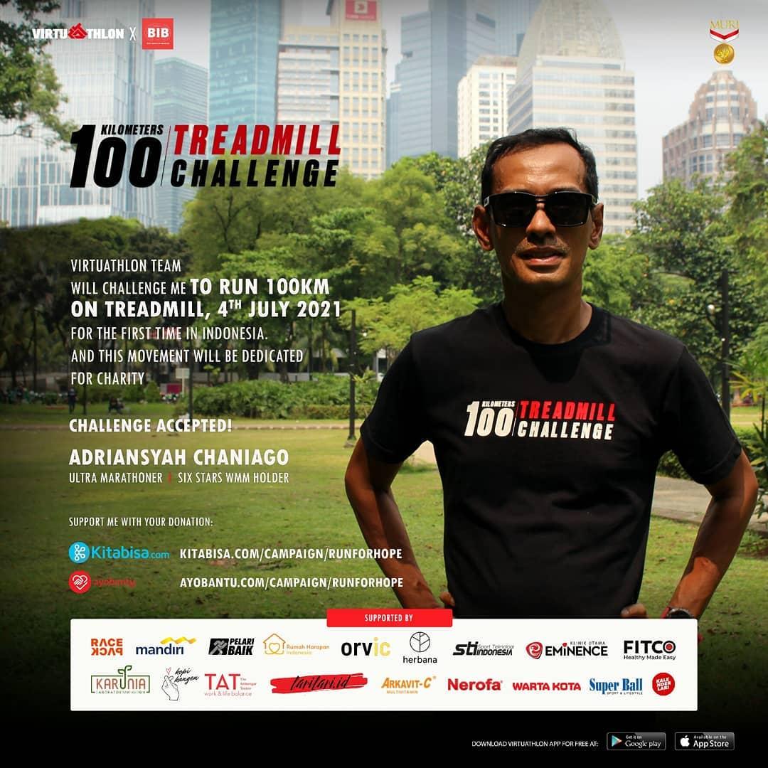 Adriansyah Chaniago � 100K Treadmill Challenge - Run For Hope • 2021