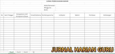 Jurnal Harian Kurikulum 2013