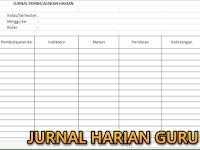 Format Jurnal Harian Kurikulum 2013 Model Baru Tematik Integratif