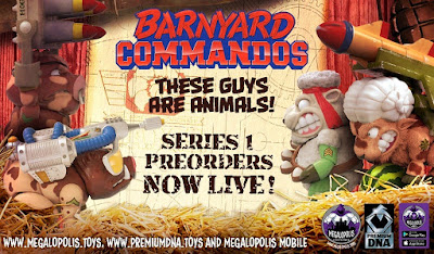 "Barnyard Commandos Premium DNA 5"" Action Figures Wave 1 by Megalopolis Toys"