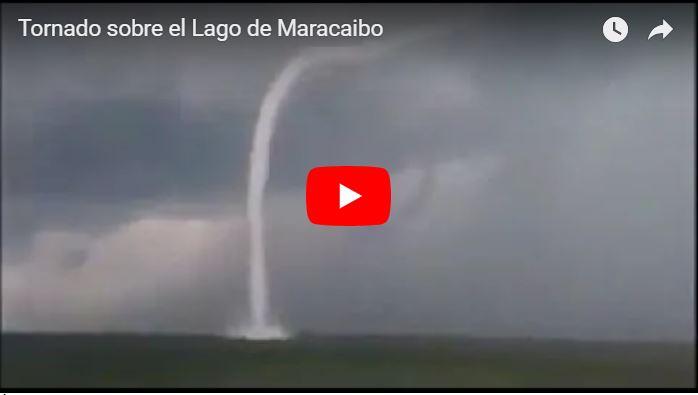Tornado se formó sobre el Lago de Maracaibo