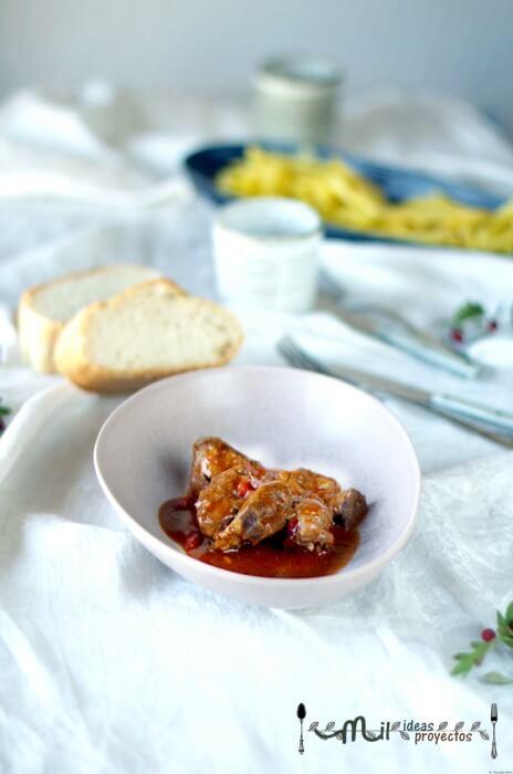 como preparar carne con tomate