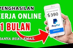 Kerja Online dari Rumah tanpa modal Hanya membuat email gmail gaji $390  1 bulan Bukan Scam