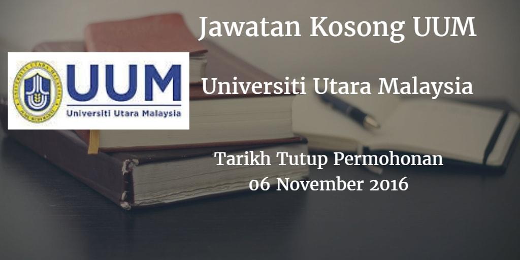 Jawatan Kosong UUM 06 November 2016