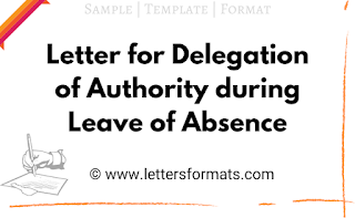 letter of delegation of authority template