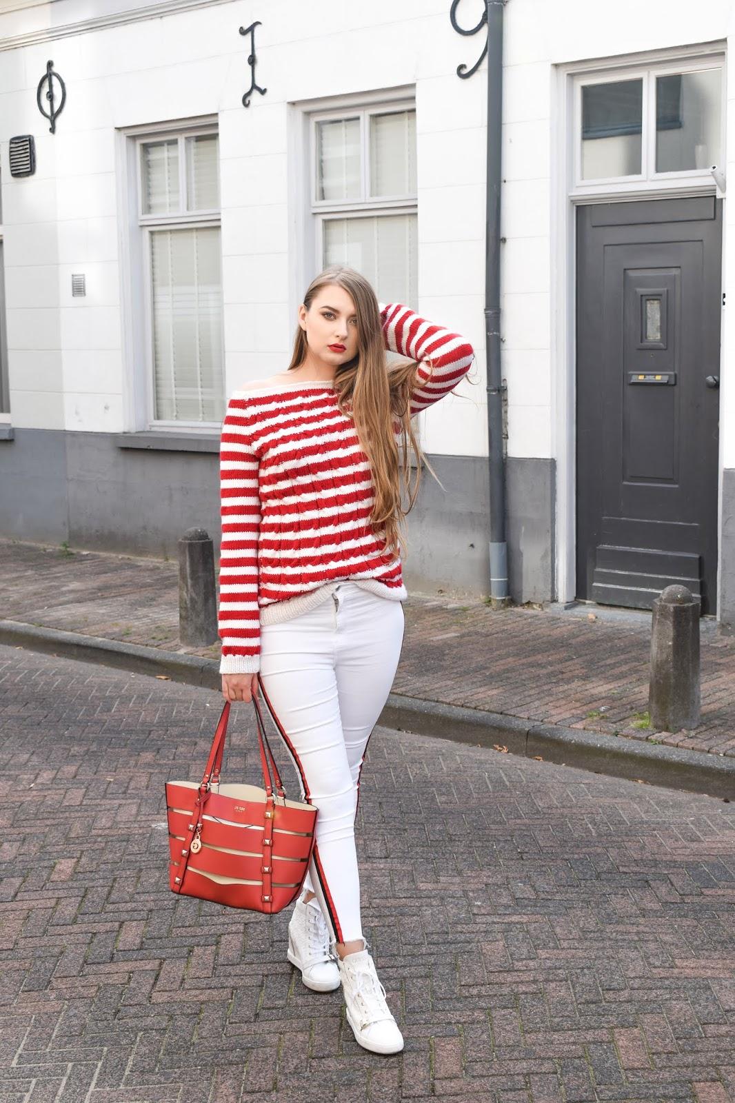 białe spodnie stylizacje zima