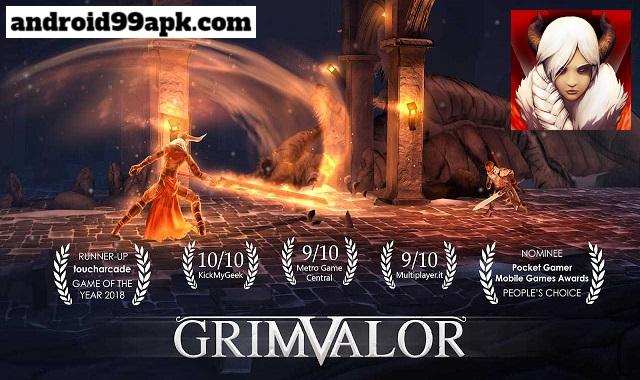 لعبة Grimvalor v1.1.0 مهكرة كاملة (بحجم 530) للأندرويد