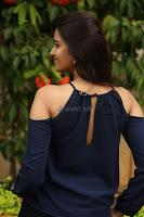 Poojita Super Cute Smile in Blue Top black Trousers at Darsakudu press meet ~ Celebrities Galleries 087.JPG