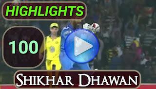 Shikhar Dhawan 100