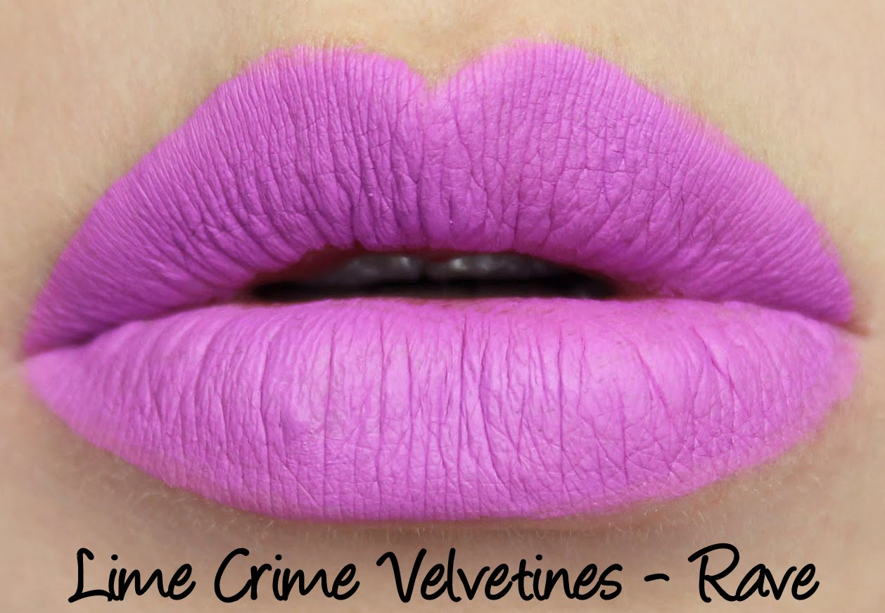 Lime Crime Velvetines - Rave Swatches & Review