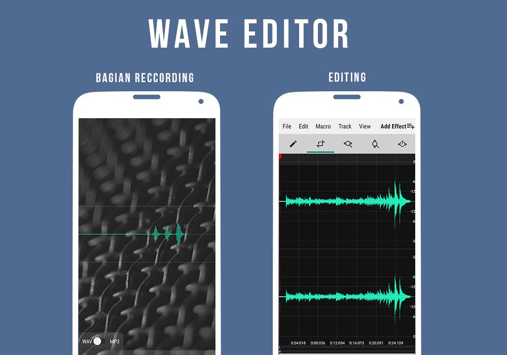 Aplikasi Reccording Lagu Terbaik di Android Wave Editor