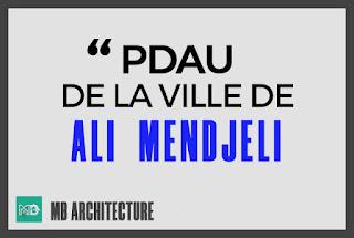 PDAU DE LA VILLE ALI MENDJELI