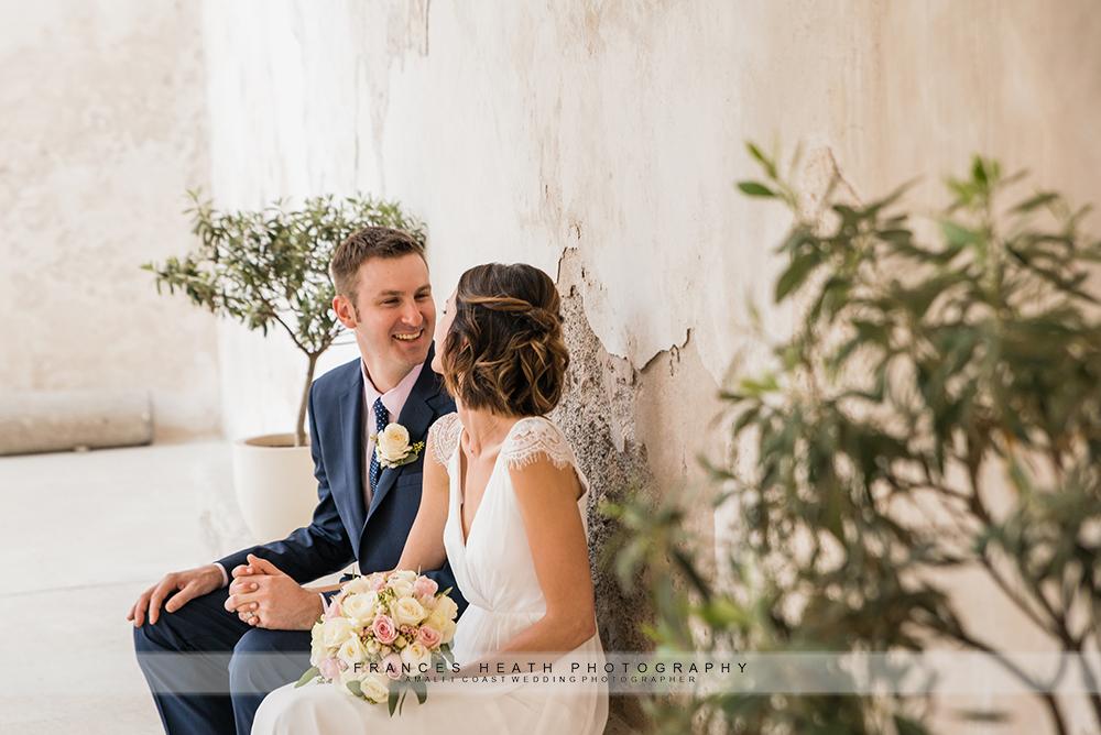 Amalfi wedding couple