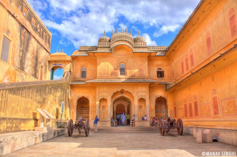 Main Entrance of Madhavendra Palace, Nahargarh Fort, Jaipur.