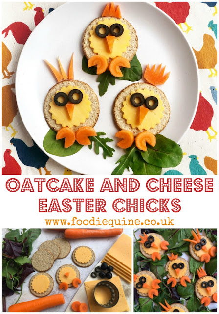 Biscuits and cheese with a seasonal twist. These chirpy Easter chicks are the perfect healthy snack to combat chocolate egg overload. Cute Easter eats that are fun for all the family - it's time to play with your food!