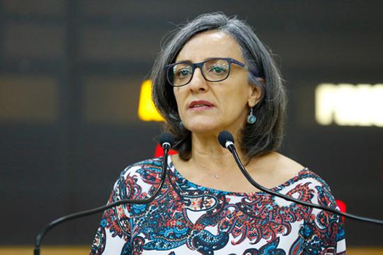 A candidata a vereadora Ana Lúcia Rodrigues (PDT). Café com Jornalista