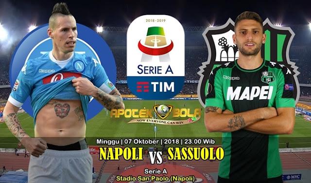 Prediksi Napoli Vs Sassuolo 7 Oktober 2018