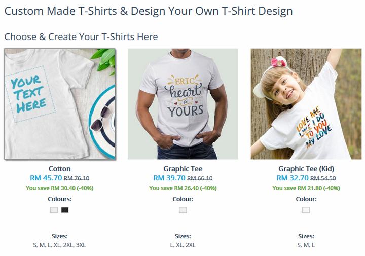 Design t shirt sendiri dengan printcious