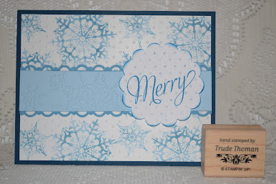 http://stampwithtrude.blogspot.com Stampin' Up! Christmas card by Trude Thoman