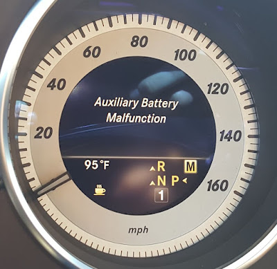 Auxiliary battery malfunction