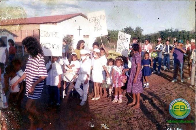 Folha de Batalha relembra primeiro desfile cívico de Caraíbas