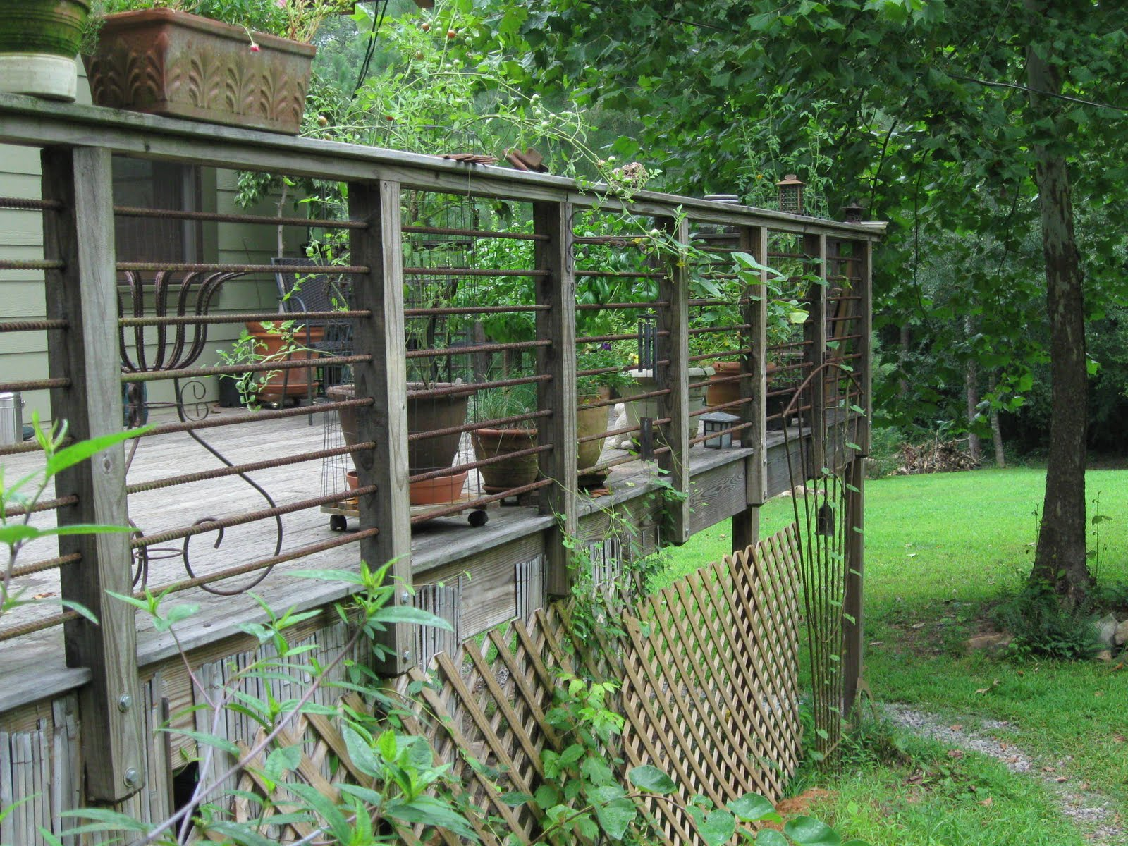 A Reader Asked Me To Show Few Pics Of The Rebar Handrail I Did For Deck And How It Had Aged