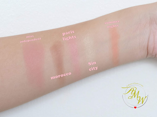 a photo of Pink Sugar Sweet Cheeks Duo Cheek Color review in shades Miss Independent, Morocco, Paris Lights, Sin City and Summer Nights