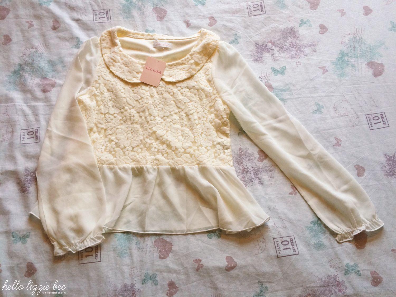 lace floral blouse