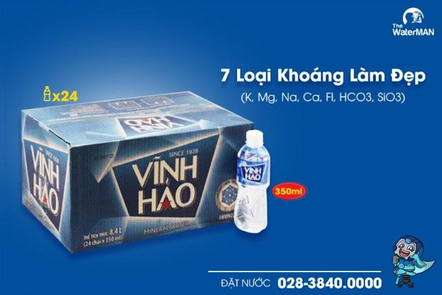 Thùng nước khoáng Vĩnh Hảo chai 350ml