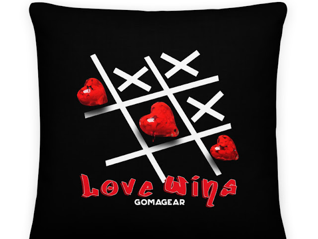 GOMAGEAR LOVE WINS PILLOW - LARGE SQUARE