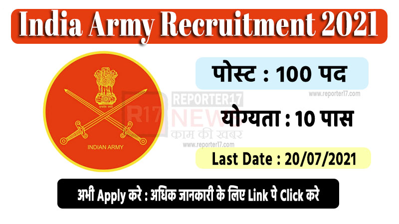 India Army Female Recruitment 2021