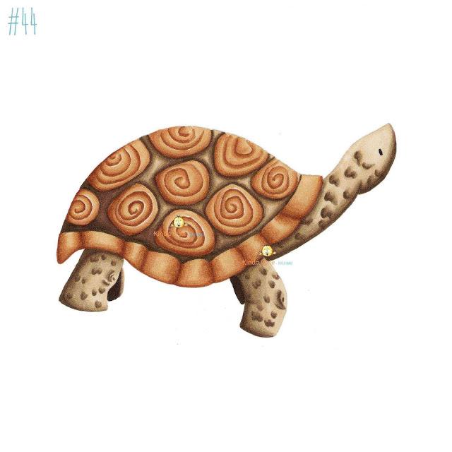 Tortoise digital stamp