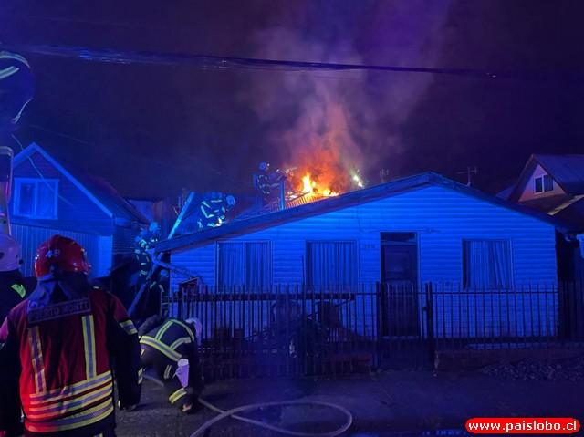 Fuego daño vivienda en Puerto Montt