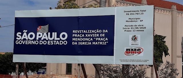 Prefeitura reforma Praça da Matriz com recursos do Programa MIT