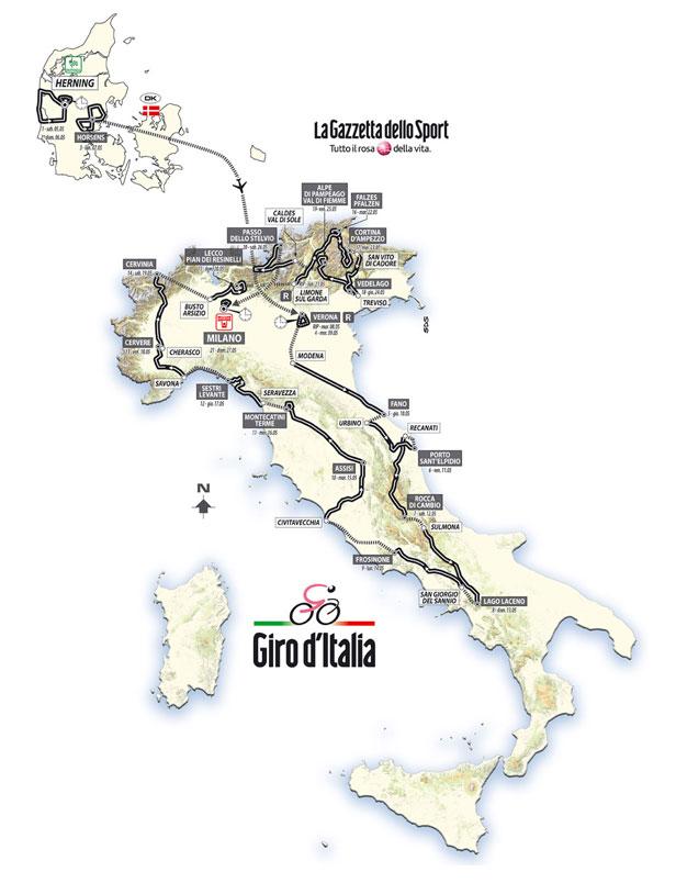 Calendario Giro D Italia.Giro D Italia 2012 Percorso Tappe Altimetrie E Dettaglio