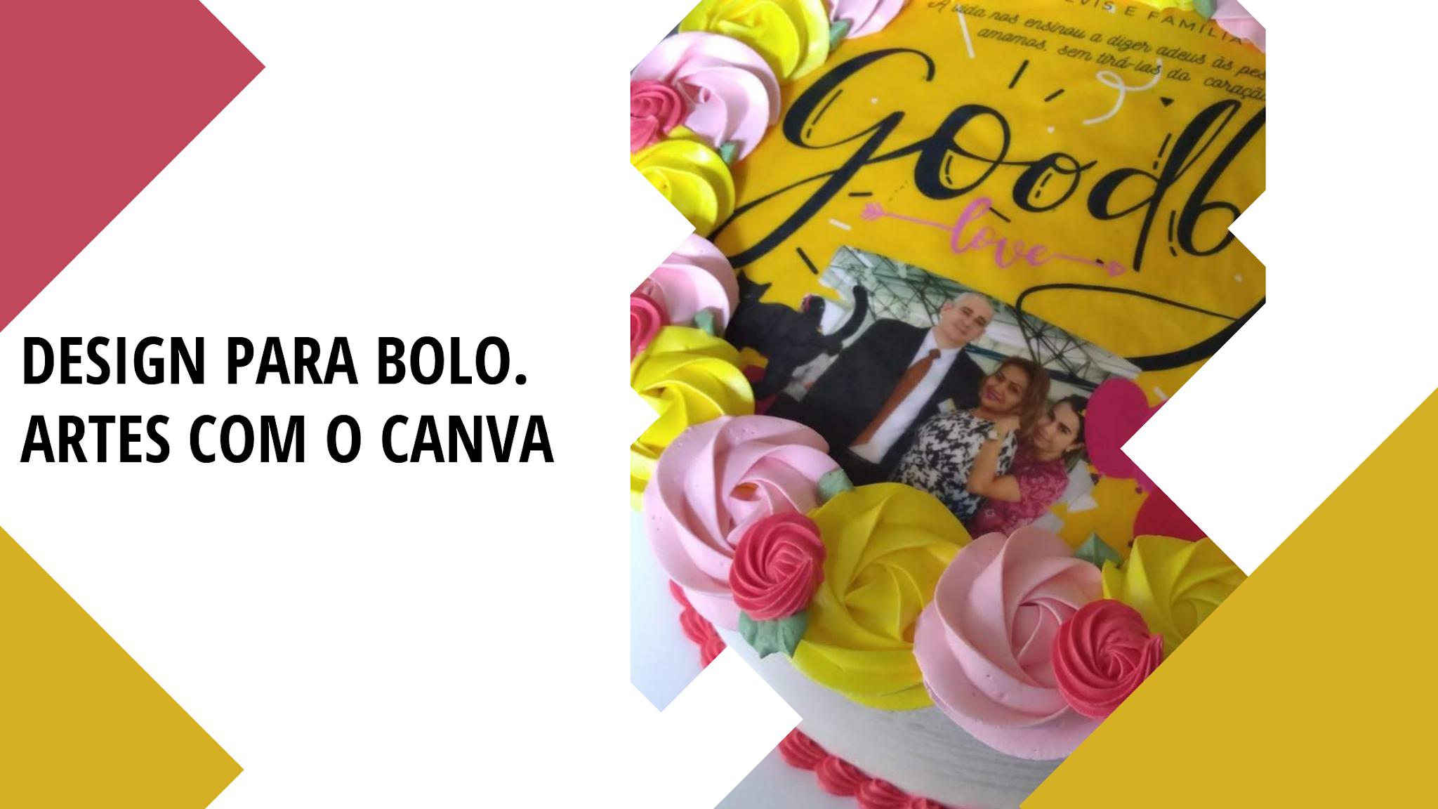 Artes comestíveis para bolo - decoração com canva
