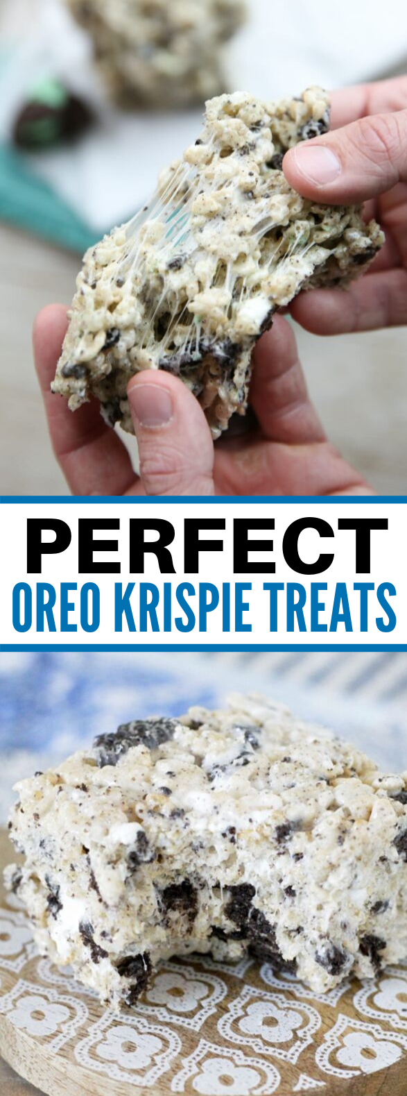 Oreo Krispie Treats #desserts #cereal